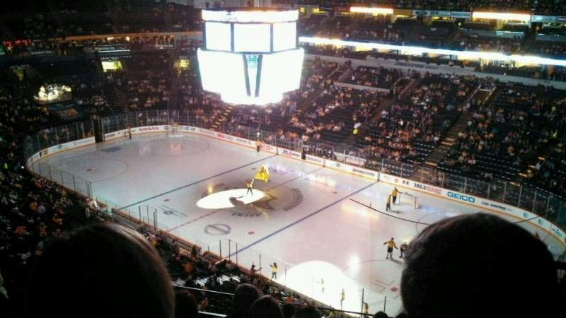 Vista sentada para Bridgestone Arena Secção 331 Fila G Lugar 12