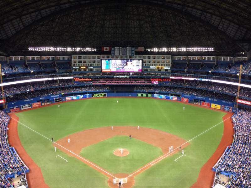 Vista sentada para Rogers Centre Secção 524AL Fila 22 Lugar 110