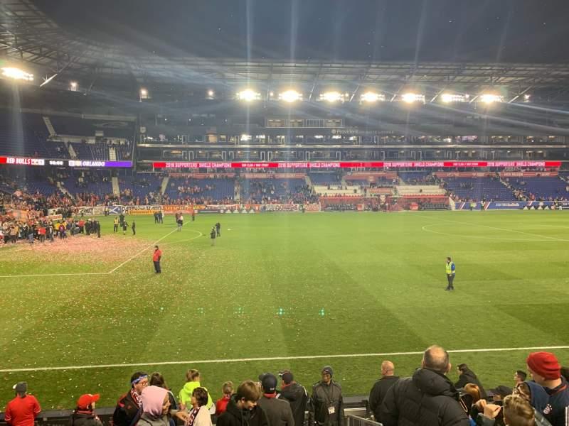Vista sentada para Red Bull Arena (New Jersey) Secção 128 Fila 9 Lugar 1