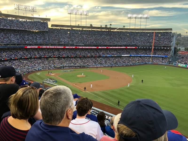 Vista sentada para Dodger Stadium Secção 40RS Fila E Lugar 11