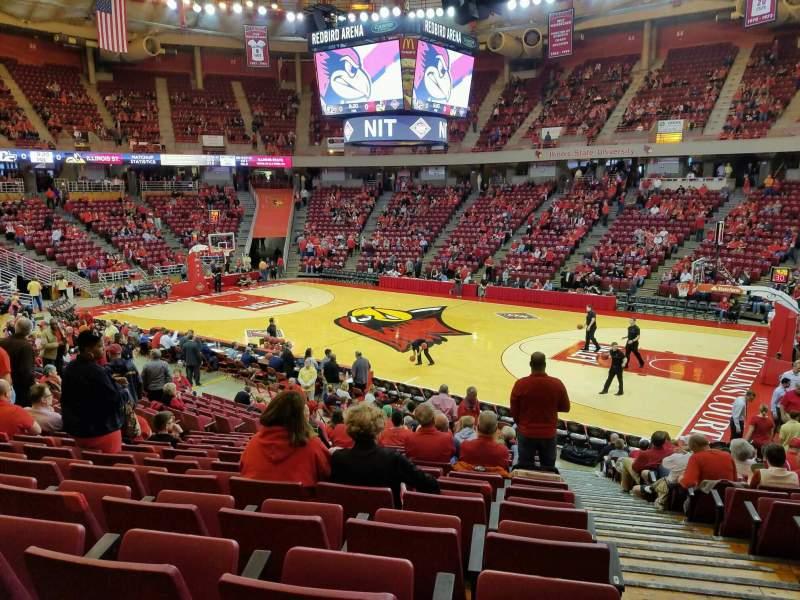 Vista sentada para Redbird Arena Secção K Fila 17 Lugar 1