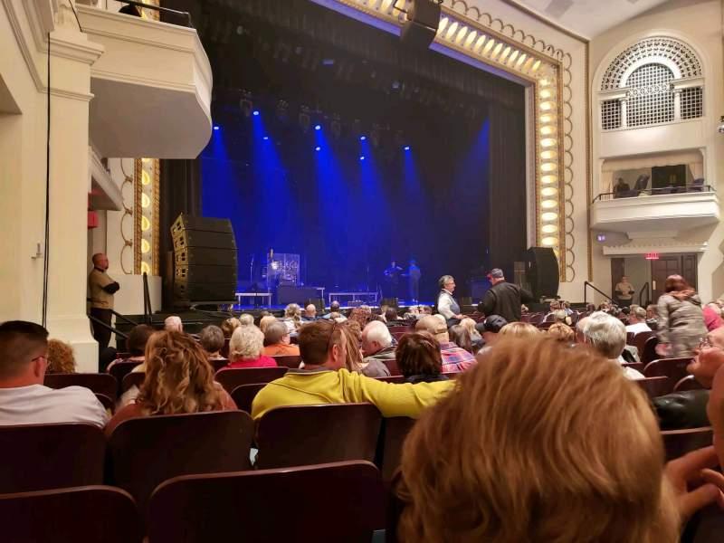 Vista sentada para Bloomington Center For The Performing Arts Secção Main Fila K Lugar 19