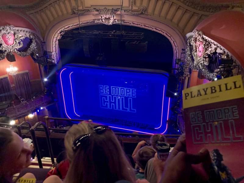 Vista sentada para Lyceum Theatre (Broadway) Secção Balcony R Fila E Lugar 8