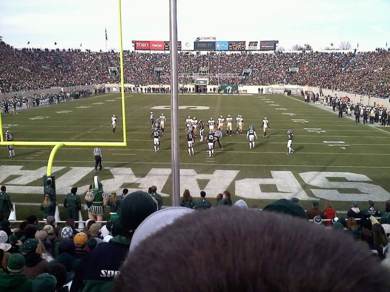 Vista sentada para Spartan Stadium Secção 16 Fila 16 Lugar 21