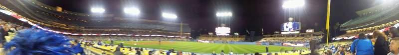 Vista sentada para Dodger Stadium Secção 36FD Fila B Lugar 5