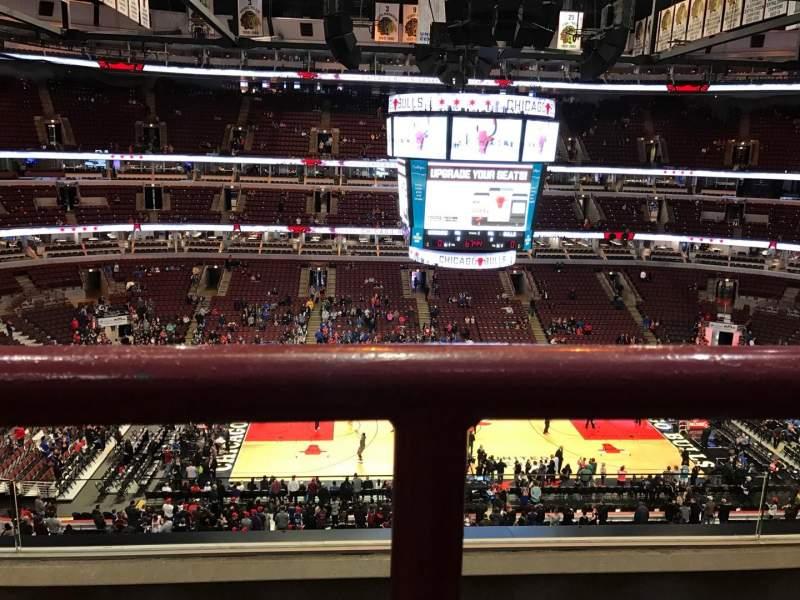 Vista sentada para United Center Secção 318 Fila 3A Lugar 12