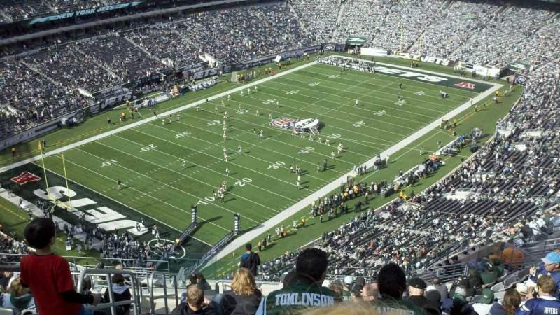 Vista sentada para MetLife Stadium Secção 320 Fila 22 Lugar 36
