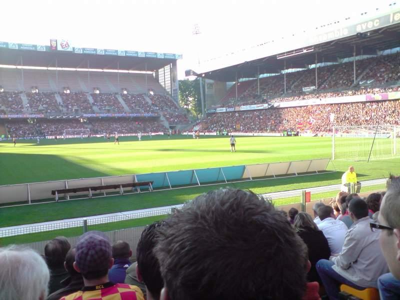 Vista sentada para Stade Bollaert-Delelis Secção Delacourt niveau 0 Fila 11 Lugar 21