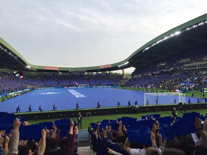 Vista sentada para Stade de la Beaujoire Secção Erdre Fila E2F-T Lugar 225