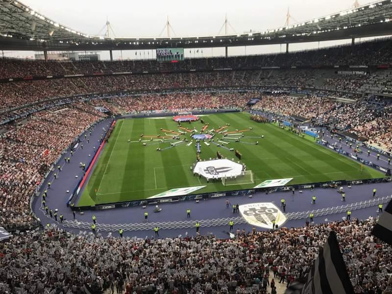 Vista sentada para Stade de France Secção Nord Haute Fila L15 Lugar 67-1
