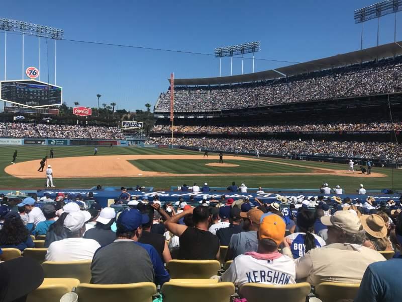 Vista sentada para Dodger Stadium Secção 25FD Fila P Lugar 3