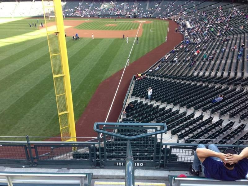 Vista sentada para T-Mobile Park Secção 181 Fila 2 Lugar 23