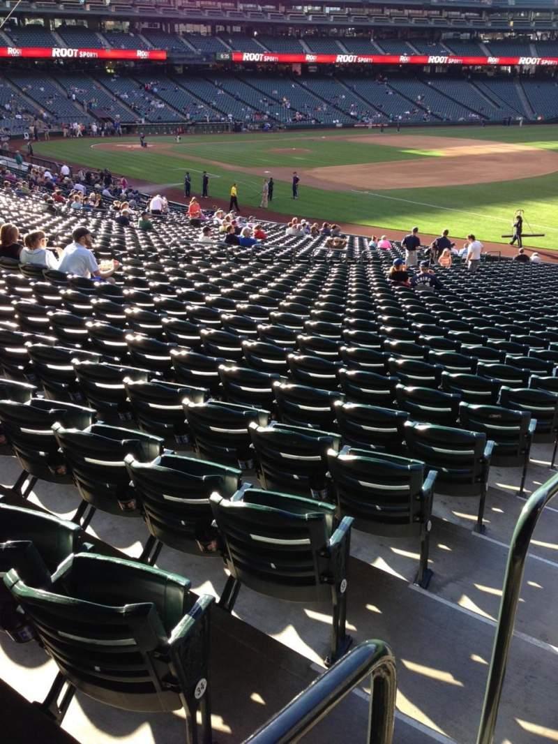Vista sentada para T-Mobile Park Secção 115 Fila 35 Lugar 34