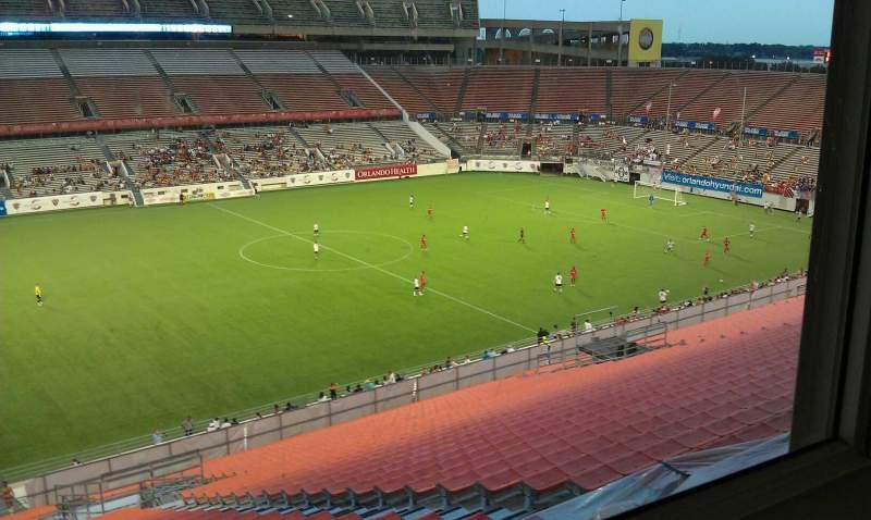 Vista sentada para Camping World Stadium Secção PBK Fila 1080 Lugar 1001