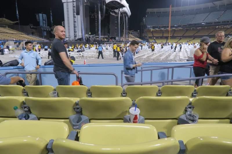 Vista sentada para Dodger Stadium Secção 47FD Fila D Lugar 5