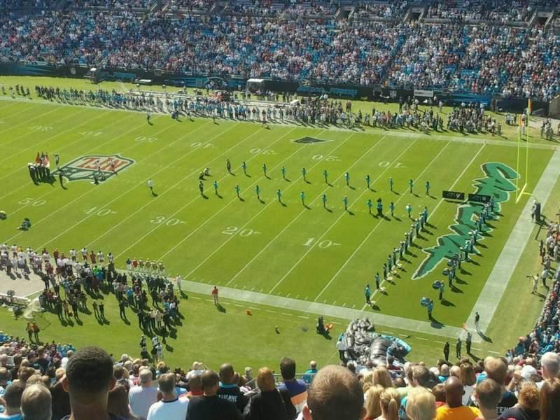 Vista sentada para Bank of America Stadium Secção 509
